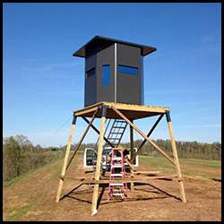 Ultra Comfort Hunting Blind Stand using our Heavy Duty Platform Corners